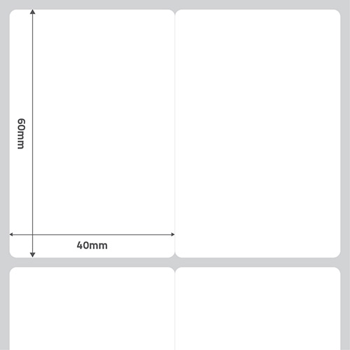 Etiqueta Adesiva BOPP Perolado Branca 40 x 60 x 01 - ID Etiquetas