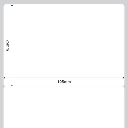 Etiqueta Adesiva Papel BOPP Fosco Branca 105 x 75 x 01 - ID Etiquetas