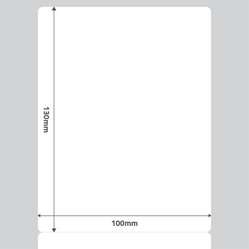 Etiqueta Adesiva Papel Couch� Branca 100 x 130 x 01- ID Etiquetas