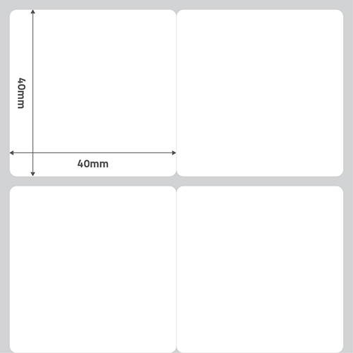 Etiqueta Adesiva Papel Couchê Branca 40 x 40 x 02 (Grande Porte) - ID Etiquetas