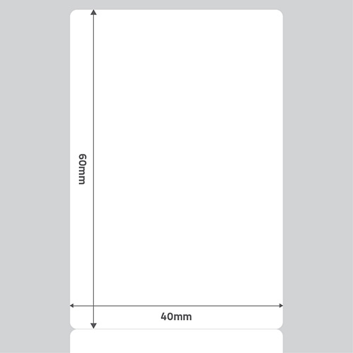 Etiqueta Adesiva Papel Couchê Branca 40 x 60 x 01 - ID Etiquetas