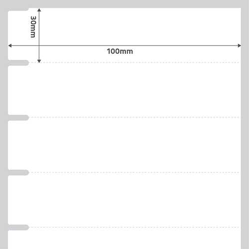 Etiqueta Adesiva Papel Couch� TAG G�ndola Branca 100 x 30 x 01 - ID Etiquetas