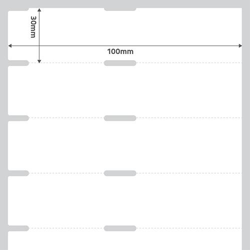 Etiqueta Adesiva Papel Couchê TAG Gôndola Branca 100 x 30 x 01 - ID Etiquetas