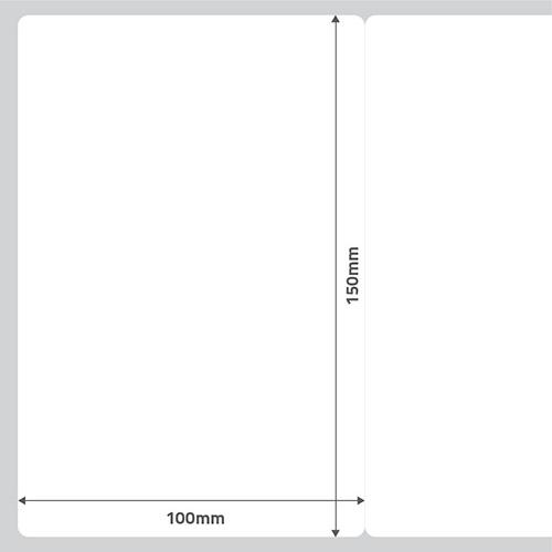 Etiqueta Adesiva Removível Papel Couchê Branca 100 x 150 x 01 - ID Etiquetas