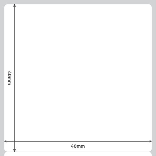 Etiqueta Adesiva Removível Papel Couchê Branca 40 x 40 x 01- ID Etiquetas