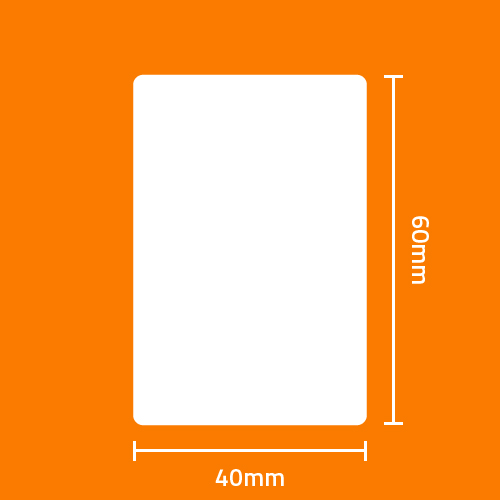 Etiqueta Adesiva T�rmica Branca 40 x 60 x 01 - ID Etiquetas