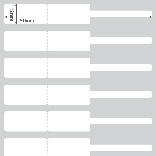 Etiqueta Joia (Garrafinha) Adesiva BOPP Fosco Branca 90 x 12 x 01 - ID Etiquetas