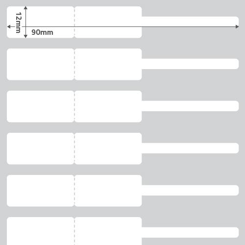 Etiqueta Joia (Garrafinha) Adesiva BOPP Perolado Branca 90 x 12 x 01 - ID Etiquetas