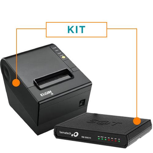 Kit SAT Fiscal RB-1000 FI - Bematech + Impressora N�o Fiscal T�rmica i9 - Elgin