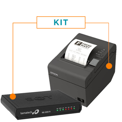 Kit SAT Fiscal RB-1000 FI - Bematech + Impressora Não Fiscal Térmica TM-T20 - Epson