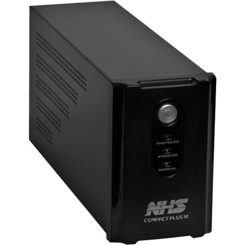Nobreak Interactive Compact Plus III 1200 (1200VA - 02 Baterias Seladas 7Ah - Entrada Bivolt e Saída 120V) - NHS