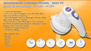 Massageador Corporal Pessoal Body Fit HC004 Multilaser - Ajuste de intensidade