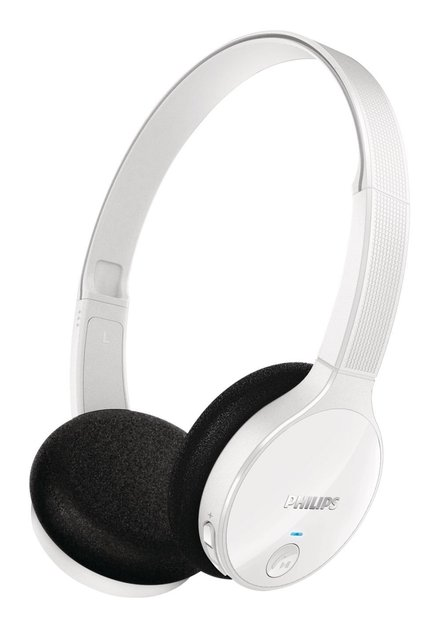 Fone de Ouvido Philips Bluetooth S/Fio com Microfone - SHB4000WT/00 Branco