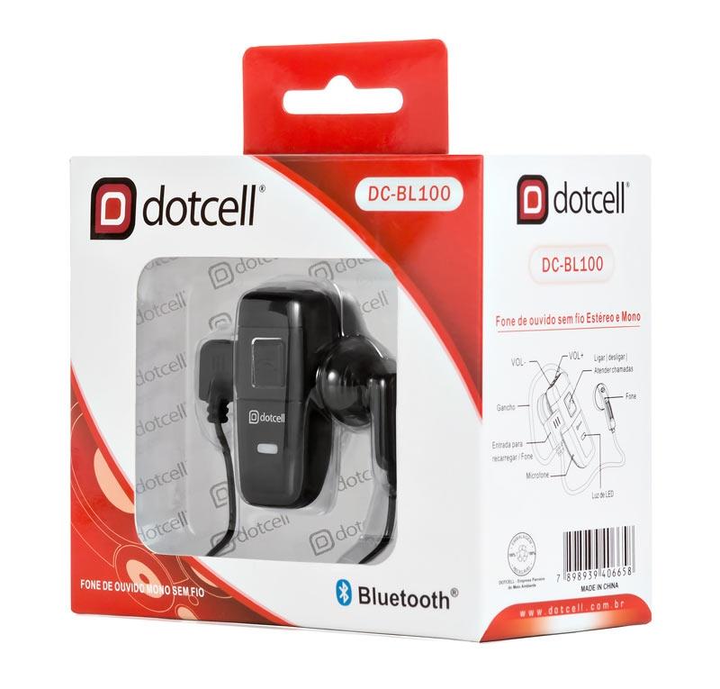 Fone Bluetooth Estereo DC-BL100 DotCell (P/ 2 Aparelhos + Musica)