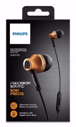 Fone De Ouvido Philips She9105 Intra-Auricular (Dourado)