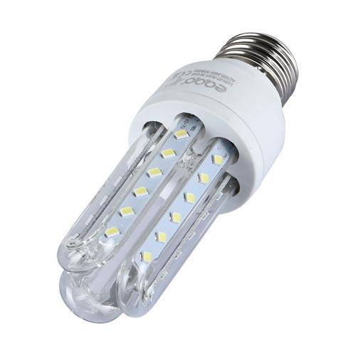 Kit 10 Lâmpadas Super LED 9W 3u E27 Bi-Volt EQQO 6500k Branco (720 Lumens)