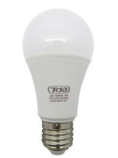 Kit 10 Lâmpadas LED 10w Bulbo E27 Bi-Volt TDA Branca (850 Lumens)