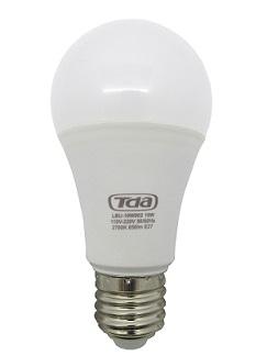 Kit 10 Lâmpadas LED 12w Bulbo E27 Bi-Volt TDA Branca (1050 Lumens)