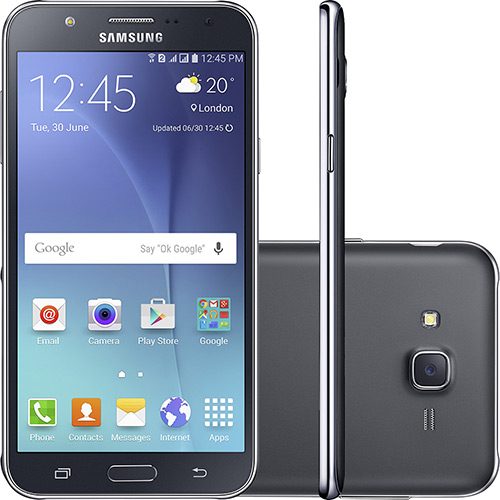 SmartPhone Samsung Galaxy SM-J700M/DS Preto - 2 Chips, Tela 5,5