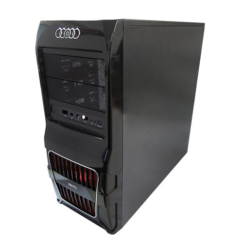 Gabinete WiseCase Gamer WS8 + Cabo 1.20Cm + Fan12Cm + 1X USB 3.0 (S/Fonte)