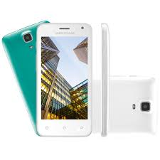 "SmartPhone Multilaser MS45 S Colors Branco - 2 Chips, Tela 4.5"" IPS, Android 5.1, Q.Core, 1.2Ghz, 1GB RAM, Câmera 3 MP + 5 MP, 3G, Mem 8GB."