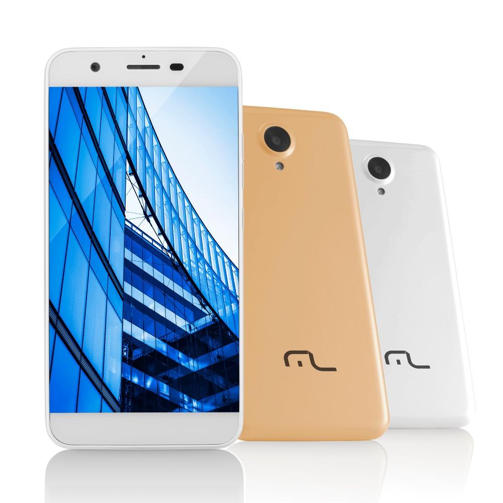 """SmartPhone MultiLaser MS50 4G Dourado NB237, Tela 5.0"""", 1Gb Ram, Quad Core, Câmera 8MP+5MP, Mem 8Gb."""
