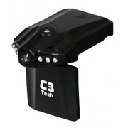 Filmadora e Camera Veicular HD CV303 C3Tech - PRETA