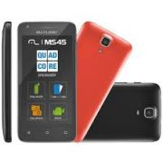 SmartPhone Multilaser MS45 Colors Preto - 2 Chips, Tela 4.5´IPS, Android 4.4, Q.Core 1.2GHz, Câm 3MP+5MP, Wi - Fi, 3G, Mem 8Gb.