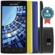 SmartPhone Multilaser MS60 Colors P9005 Preto - 2 Chips, Tela 5.5´IPS, Android 5.0, Q.Core 1.3GHz, 2GB RAM, Câm 8MP+13MP, Wi - Fi, 4G, Mem 16Gb.  (OUTLET)
