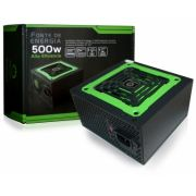 Fonte Real 500w Atx One Power 20+4 Pinos Fan 14cm
