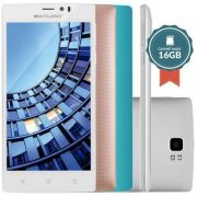 SmartPhone Multilaser MS60 Colors P9006 Branco - 2 Chips, Tela 5.5´IPS, Android 5.0, Q.Core 1.3GHz, 2GB RAM, Câm 8MP+13MP, Wi - Fi, 4G, Mem 16Gb. (OUTLET)