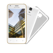 "SmartPhone Multilaser MS45 S Colors Branco/Dourado - 2 Chips, Tela 4.5"" IPS, Android 5.1, Q.Core, 1.2Ghz, 1GB RAM, Câmera 3 MP + 5 MP, 3G, Mem 8GB."