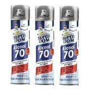 Kit 3 Spray Alcool 70% AER SuperDom 300ML/170G DomLine