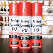Kit 3 Spray Proteg Espuma Expansiva PU 500ml/340g  Baston