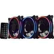 Kit Cooler Pc Gamer 120mm ARGB Double C/Contr.Rem AF-L1225 K-Mex