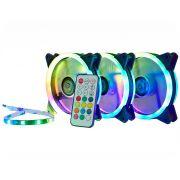 Kit Cooler Pc Gamer 120mm RGB Double C/Contr.Rem + Fita AF-S1225 K-Mex
