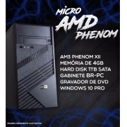 Micro Pc Br One - Amd Phenom X2, 4gb, Hd 1tb Sata, Win10 Pro.