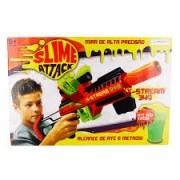 Lançador Slime Attack X stream Br558 - Multikids (Dispara Meleca)