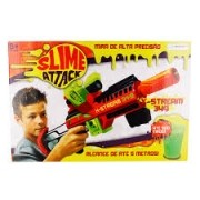 Pistola Lançador Slime Attack X-stream Br558 - Multikids (Lança Meleca)