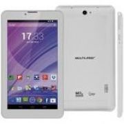 Tablet 7' Multilaser M7-3G Branco NB224 - Android 4.4, 2 Chips, Q.core, 512Mb Ram, Mem 8Gb.