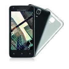 "SmartPhone Multilaser MS45 R Preto - 2 Chips, Tela 4.5"" IPS, Android 6.0, Q.Core, 1.2Ghz, 1GB RAM, Câmera 3 MP + 5 MP, 3G, Mem 8GB."
