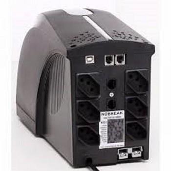 NoBreak TS Shara UPS Soho II 800VA bi-volt 115V/220v e Saida 115v (Ent.Bat.externa)