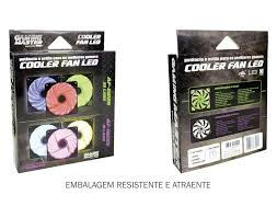 Cooler Pc Gamer 120mm Leds Azul, Verde e Vermelho AF-E1225 K-Mex