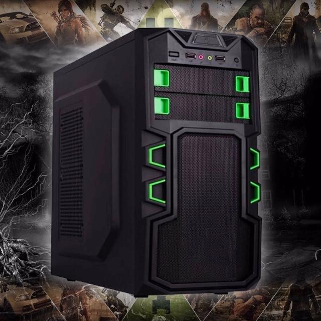 Gabinete Gamer Atx BR One 2 Baias A2 BG - Sem Fonte ( Preto/Verde )