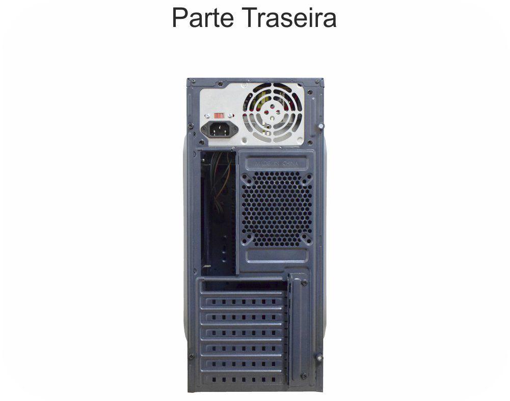 Gabinete Micro Atx K-Mex 2 Baias GX-23R9 S/Fonte (Preto)
