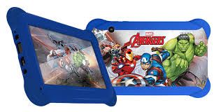 "Tablet 7"" Multilaser Kid Pad NB240 Disney Vingadores (Q.Core, Android 4.4, Dual Camera, Wi-Fi, Mem 8GB)"