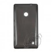Kit Capa de TPU Premium + Película Transparente para Nokia Lumia 520 - Cor Grafite