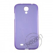 Kit Capa de TPU Premium + Película Transparente para Samsung Galaxy S4 - Cor Roxa