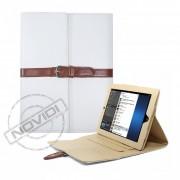 Capa Smart Cover Dobrável com Alça e Fivela  para Apple iPad - Cor Branca