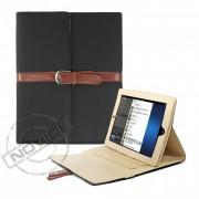 Capa Smart Cover Dobrável com Alça e Fivela para Apple iPad - Cor Preta